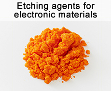 Etching agents for electronic materials
